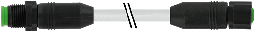 M12 St. 0° auf M12 Bu. 0° Lite
