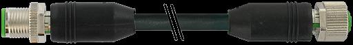 M12 St. 0° - M12 Bu. 0° gesch. D-cod. Ethernet 1,5 m