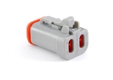 4-pol. Stecker mit Endkappe und Wedgelock für Einzellitzen