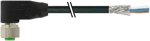 M12 Bu 90° freies Ltg.-ende CANopen/SAE J1939