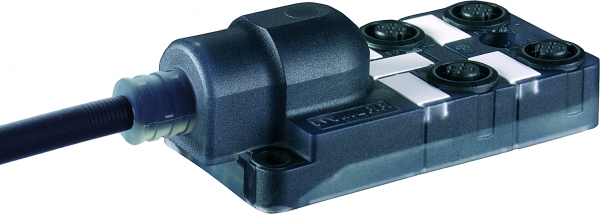 Exact12 schwarz, 4xM12, 5-pol., Ltg.fest