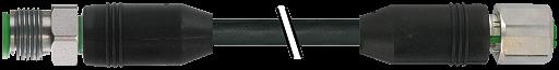 M12 St. 90° auf M12 Bu. 90° CANopen/SAE J1939 V4A