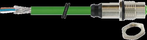 M12 Bu. Flansch D-cod. gesch. HWM Ethernet 3 m
