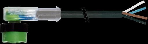 MQ12 Bu. 90° mit LED freiem Leitungsende