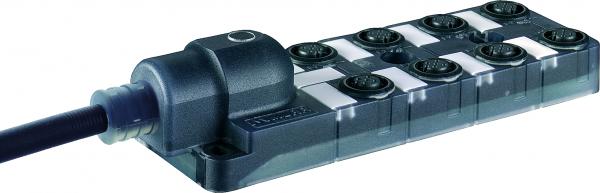 Exact12 schwarz, 8xM12, 5-pol, Ltg.fest