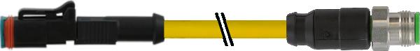 M12 Xtreme St. 0° auf Ventilstecker MDC06-2s LED+Diode
