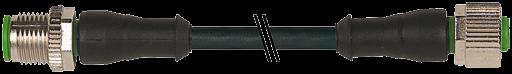 M12 St. 0° auf M12 Bu. 0° - Pin 1,2,3 - 3 m